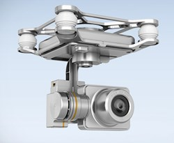DJI Phantom 2 Vision Plus Gimbal & Camera Assembly