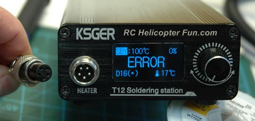 T12 Soldering Station Error Display If Iron or T12 Tip Is Not Plugged In