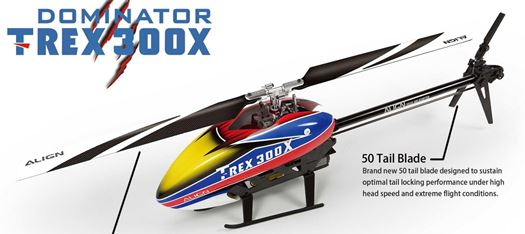 Align's T-Rex 300X RTF and BTF RC Helicopter
