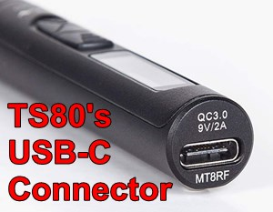 TS80 Soldering Iron USB-C Power Connector