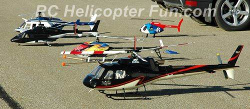 Various Types & Sizes Of RC Helicopters