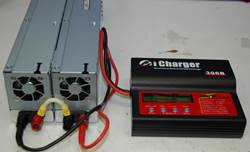 Two 2ZO-RC Power Supplies Powering An iCharger 306B