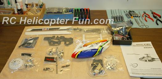 450 size RC helicopter kit