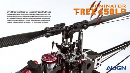 Trex 450 LP ARTF Utilizes Beginner Friendly Plastic Blade Grips & DFC Arm Links