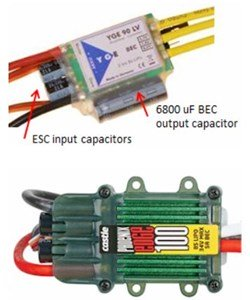 Two 5 Amp BEC's (Internal/Inside The ESC's)