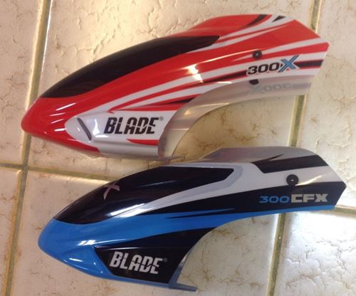 Original Blade 300X Canopy Is Much Easier To See Than The Blue/White On The 300 CFX Version