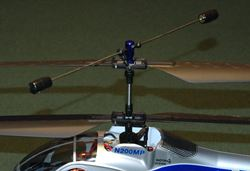 Hiller Upper Rotor Head On Micro Coaxial RC Helicopter