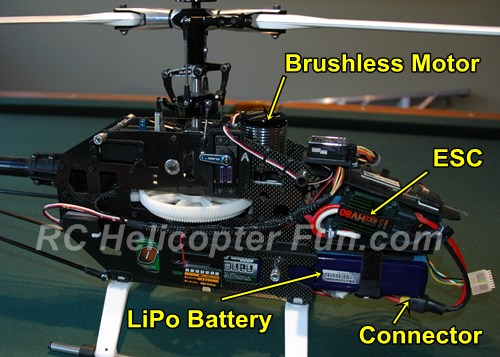 Electric RC Helicopter Component Identification & Layout
