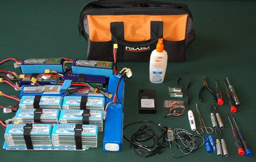 Electric RC Field Bag Contents