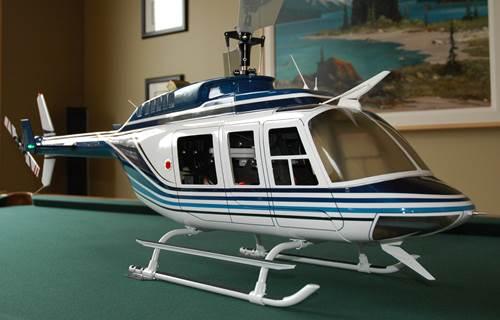 Fun-Key 50/600 size Bell 206L (LongRanger) Blue