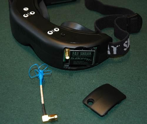 Built In 5.8GHz FPV Receiver Module In Goggles