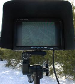 FPV Monitor Display On Tripod With Sun Shade