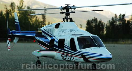 Bell 222 FunKey Fuselage Scale RC Helicopter
