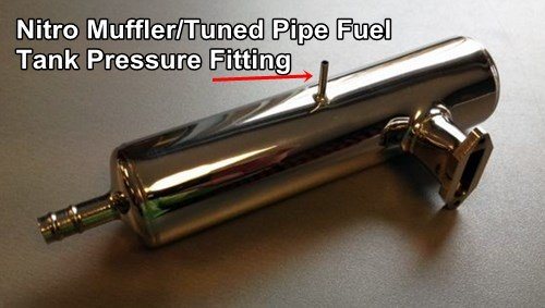 Typical Fuel Tank Pressure Fitting On Nitro Muffler/Tuned Pipe