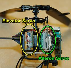 Linear RC Servo Installation In Micro RC Helicopter