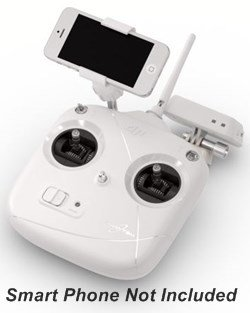 DJI Phantom 2 Radio Control Unit with Smart Phone Bracket & WiFi Range Extender