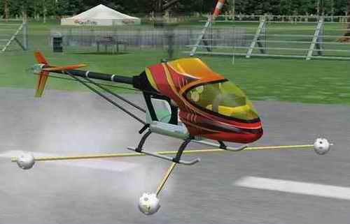 Simulator Heli With Training Gear