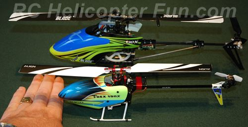 Trex 150X vs Blade 130 Size