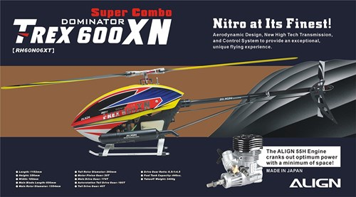 Nitro powered thrills are waiting for you with the T-Rex 600XN