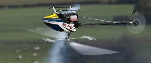 Nitro RC Helicopter Hovering Inverted