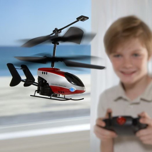 Child Safely Flying RC Helicopter