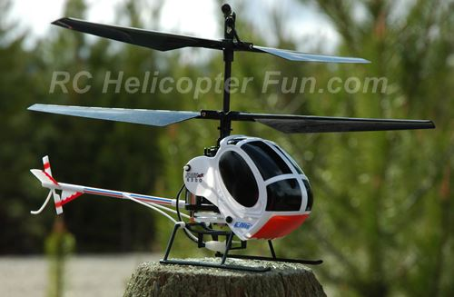 Micro Coaxial RC Helicopter Uses Counter Spinning Blades To Provide Anti-Torque & Yaw Control.