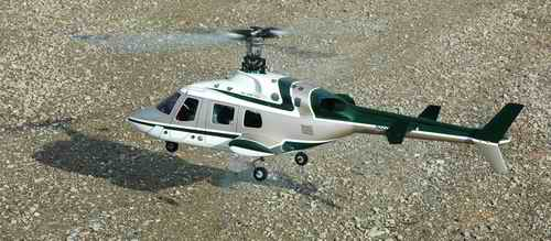 RC Helicopter In Strong Ground Effect Just A Few Inches Off The Ground