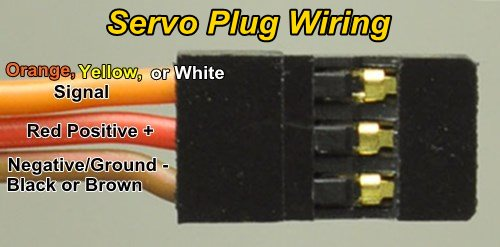 rc servo plug wiring colors and functions